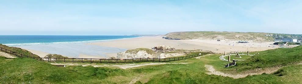 Close to Perranporth beach and town
